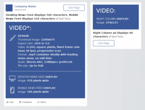 facebook video cheat sheet