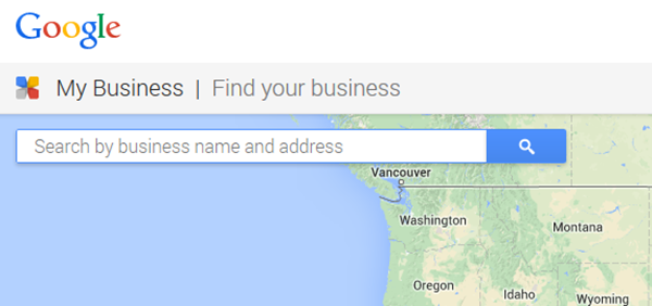 A. Enter Your Business Name and Address in the Search Box.