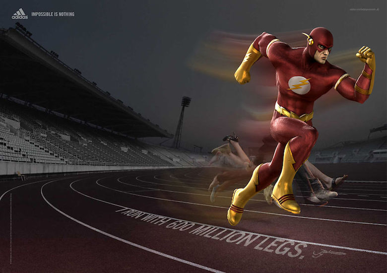 The Flash From DC Comics and DC Movies and even the DC Cartoons take a place in this game of creative designing and bringing the Sport to another level, Impossible is nothing.