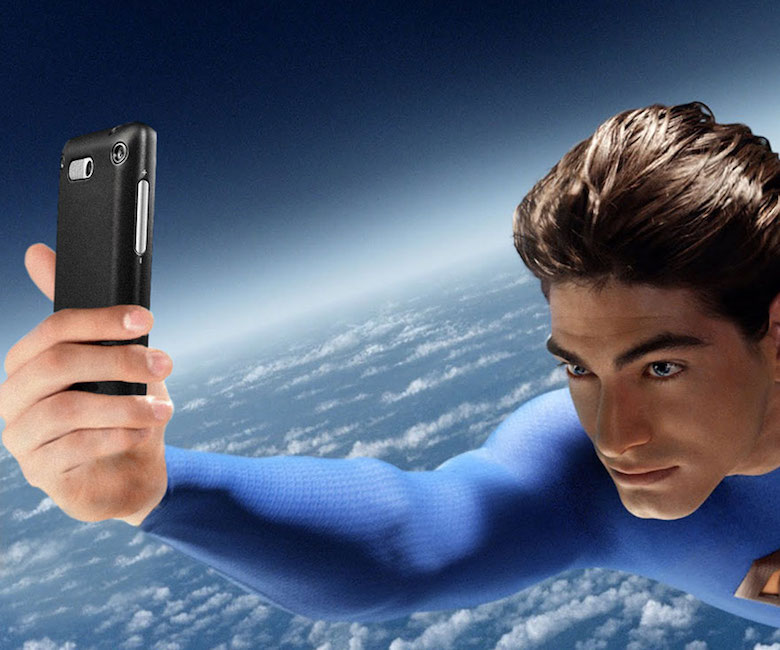 No caption needed, Superman is taking a selfie himself.