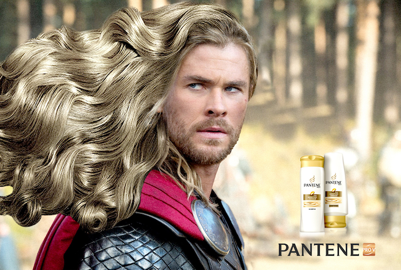 Thor, The God of thunder was in a prev creative using the right tools for the right job, Now he's is making a hair routine.