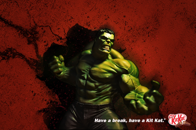 Hulk And KitKat, Have a break and have KitKat
