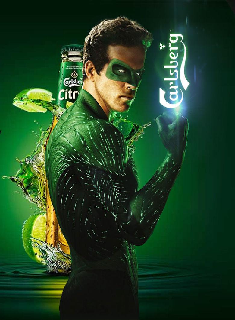 Calsberg and green lantern